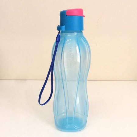 Tupperware Eco Tupper 500ml Tampa Flip Top Azul e Rosa