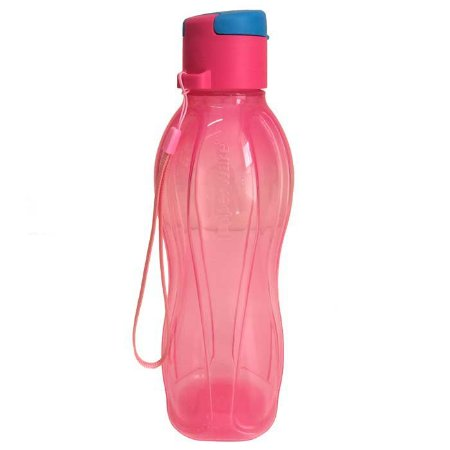 Tupperware Eco Tupper 500ml Tampa Flip Top Rosa e Azul