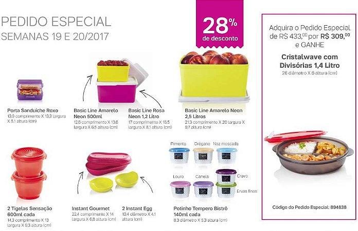 Tupperware Pedido Especial 05/2017 kit 16 peças + 1 grátis