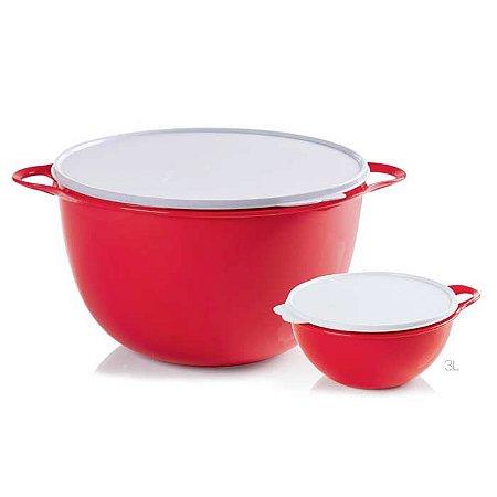 Tupperware Criativa Par Perfeito Vermelho kit 2 peças 14 + 3 litros