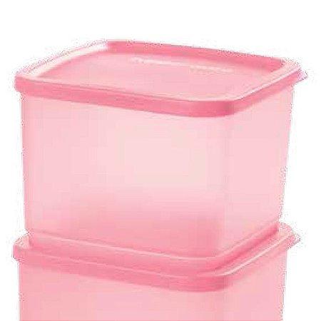 Tupperware Refri Line Quadrado Rosa Quartzo 1 litro