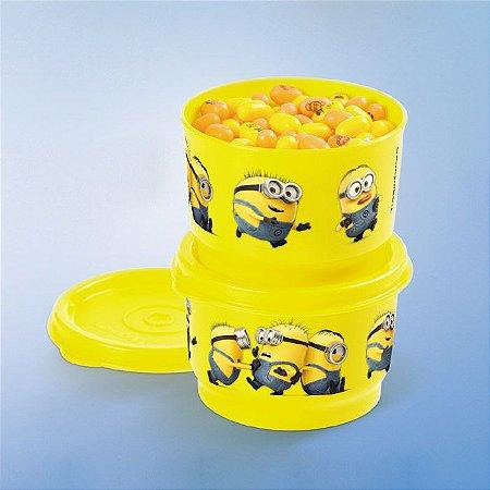 Tupperware Potinho Minions 140ml kit 2 peças