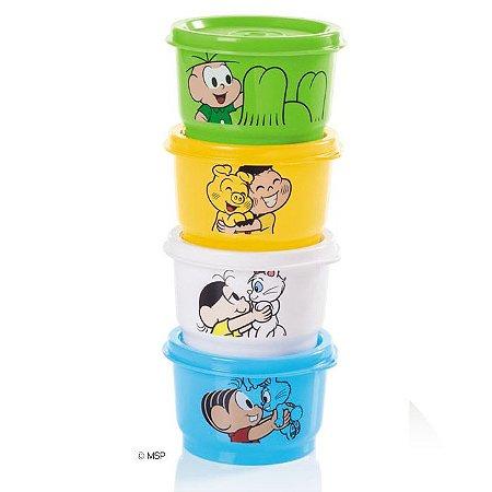 Tupperware Potinho Turma da Monica 140ml cada kit 4 peças