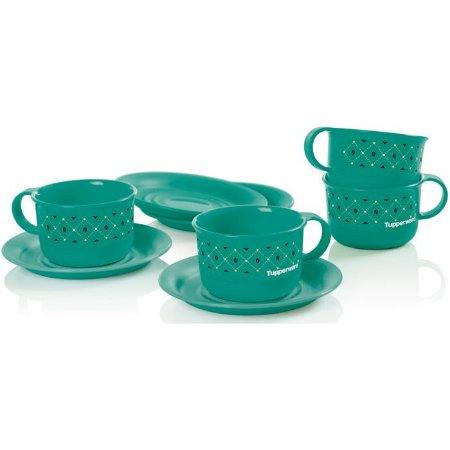 Tupperware Xícaras Café Bistrô 150ml Verde 4 peças