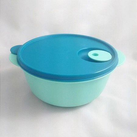 Tupperware Cristalwave 1,5 litros Verde Mint e tampa azul