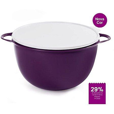 Tupperware Jumbo Criativa 14 Litros Púrpura