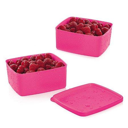 Tupperware Jeitosinho Pink 400ml kit 2 peças