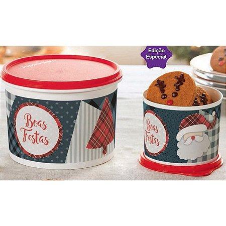 Tupperware Caixa Natal 1,7 litro + Redondinha Natal 500ml