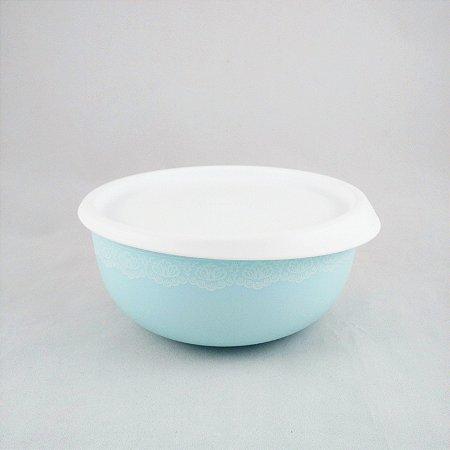 Tupperware Tigela Toque Mágico Azul Claro com Renda 500ml