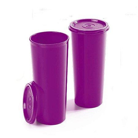 Tupperware Copos 470ml Roxo Kit 2 peças