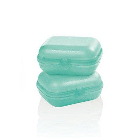Tupperware Snack Médio Verde Mint Kit 2 peças