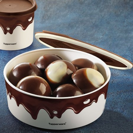 Tupperware Baseline Redondo Chocolate 1,5 litro