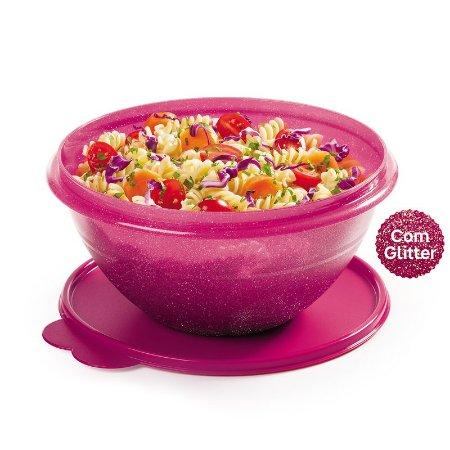 Tupperware Tigela Maravilhosa 1,8 litro Rosa Glitter