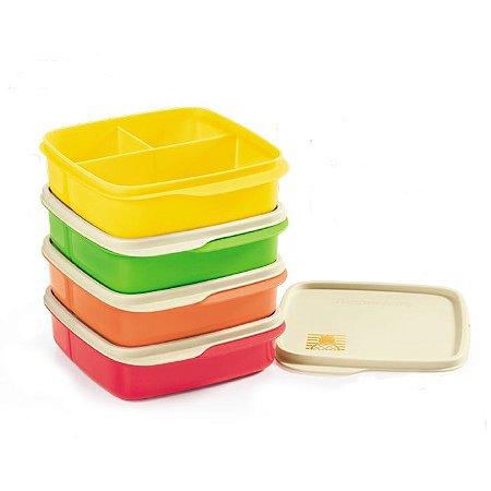 Tupperware Basic Line com Divisórias kit 4 peças