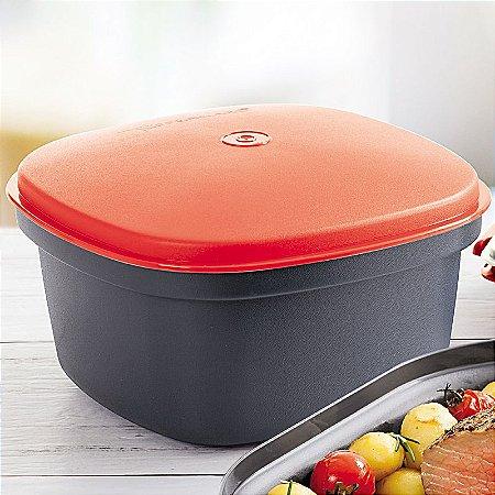 Tupperware Travessa Quadrada Actualité 2,5 litro Preto Vermelho