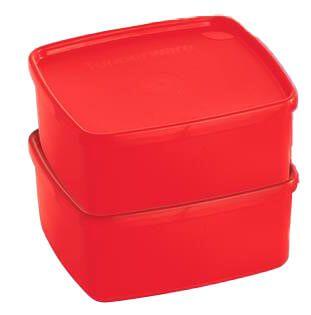Tupperware Jeitosinho 400ml Vermelho 2 peças