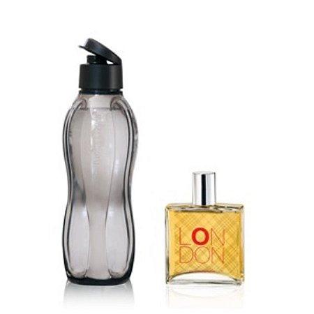 Tupperware Eco Tupper Plus 1 litro Preta + Perfume London 100ml