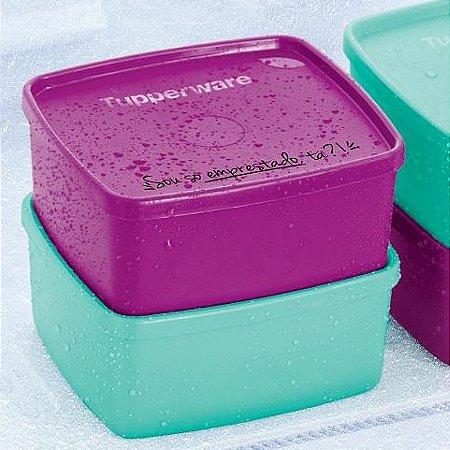 Tupperware Jeitosinho Violeta + Verde Mint 400ml Frases