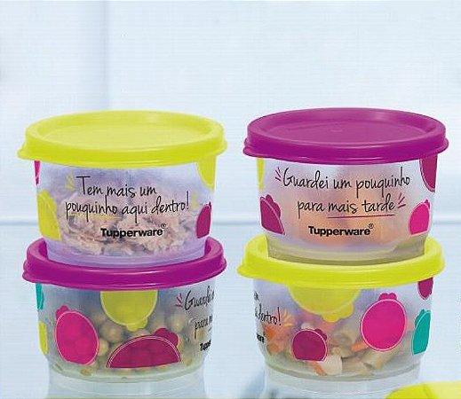 Tupperware Potinho Sobras 140ml kit 4 peças