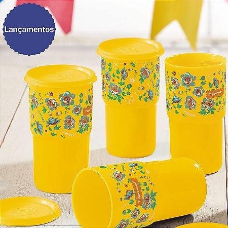 Tupperware Copo Colors 350ml Kit 4 peças