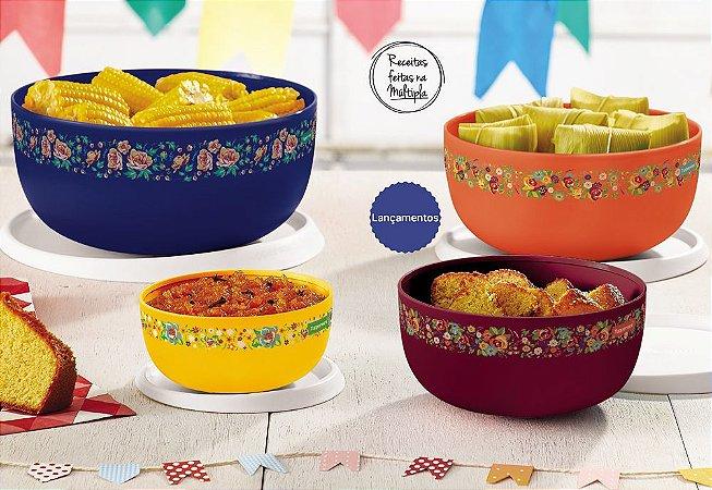 Tupperware Tigela Toque Mágico Arraiá Kit 4 peças