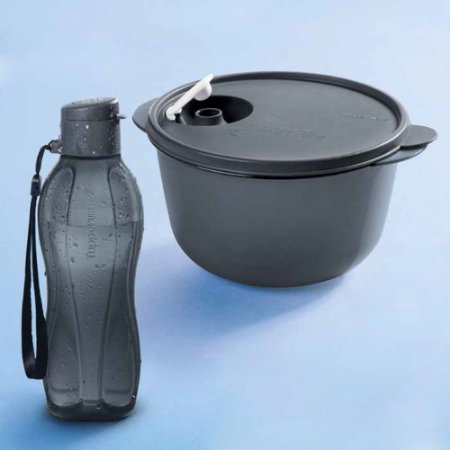 Tupperware Cristalwave 1,5 Litro Preto + Eco Tupper Plus 500ml