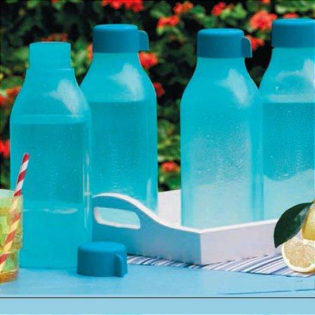 Tupperware Eco Tupper Garrafa Quadrada de Água 1 Litro Azul