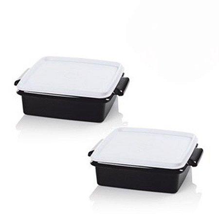 Tupperware Pote Jet Black Kit 2 peças