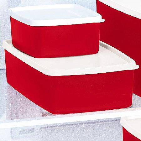 Tupperware Caixa Ideal Vermelho 1,4 litro