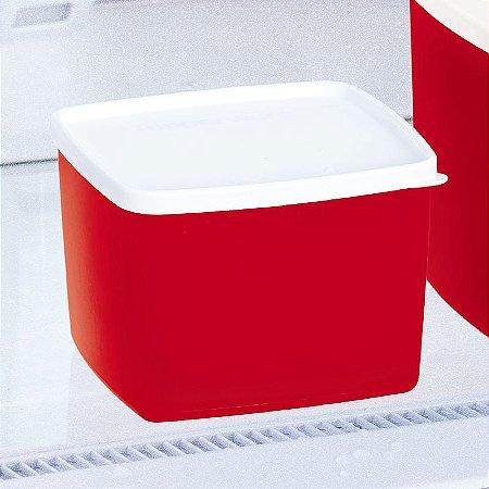 Tupperware Jeitoso Vermelho 800ml tampa Branca