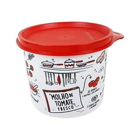 Tupperware Redondinha Livro de Receitas 500ml - Molho de Tomate Fresco