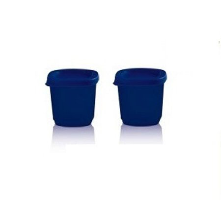 Tupperware Mini Refri Line Quadrado 110ml Kit 2 peças Azul