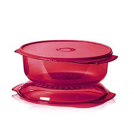 Tupperware Microplus Redondo 2,25 litros Vermelho