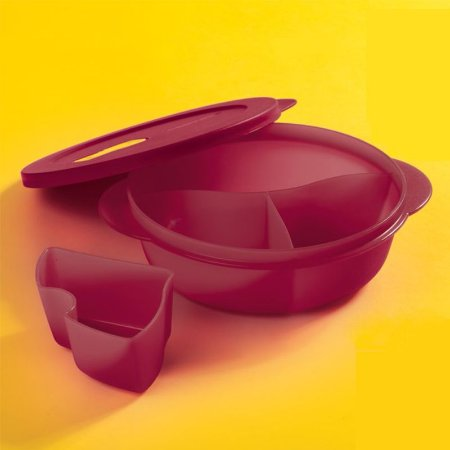 Tupperware Cristalwave Divisórias 900ml Marsala