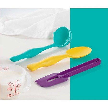 Tupperware Concha + Colher + Pá batedeira Kit 3 peças