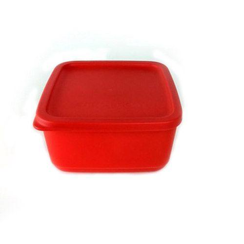 Tupperware Refri Line Quadrado 650ml Vermelho