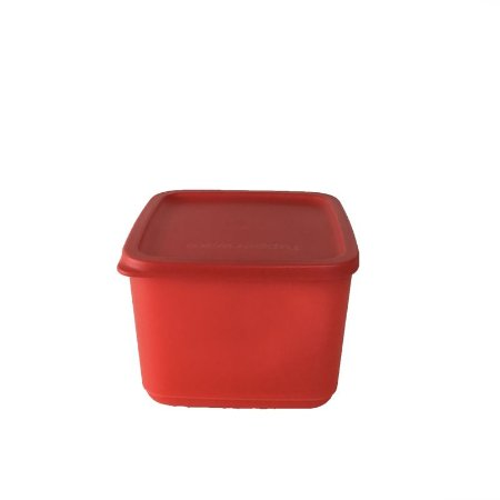 Tupperware Refri Line Quadrado 1 litro Vermelho