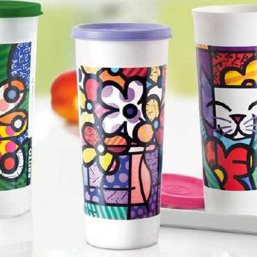 Tupperware Copo Romero Britto 470ml Flor