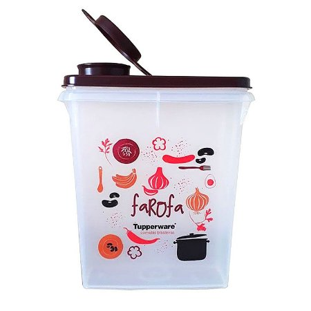 Tupperware Porta Farofa 400g Marsala
