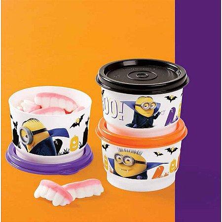 Tupperware Potinho Minions Kit 3 peças