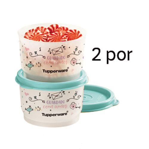 Tupperware Potinho Guardado com Amor Kit 2 peças
