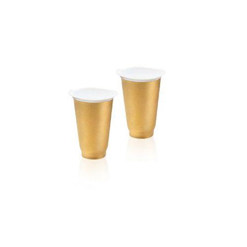 Tupperware Copo Allegra 450ml Dourado Kit 2 peças
