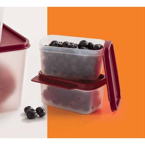 Tupperware Basic Line 160ml litro Tampa Marsala Kit 2 peças