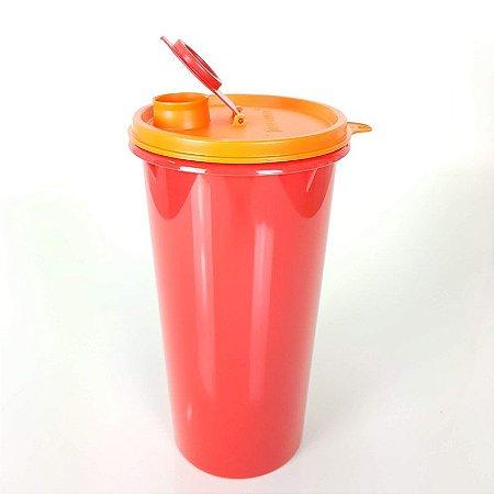 Tupperware Guarda Suco 1,4 litro Vermelho Tampa Laranja