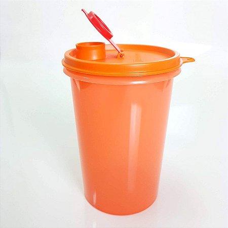 Tupperware Guarda Suco 1 litro Laranja Tampa Vermelha