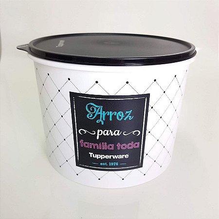 Tupperware Caixa Arroz Bistrô 5kg Tampa Preta