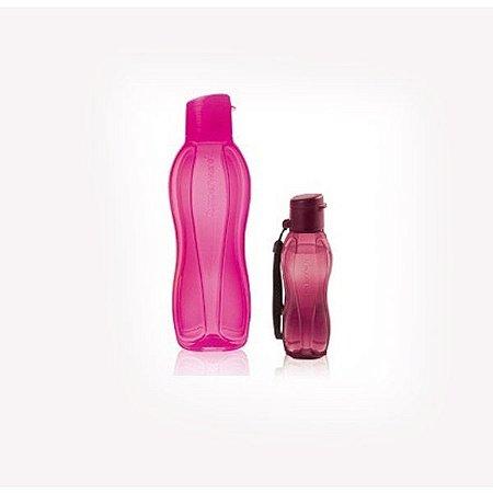 Tupperware Eco Tupper Garrafa Plus Rosa Neon 1 litro + Merlot 310ml