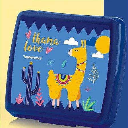 Tupperware Porta Sanduíche Love Lhama Azul