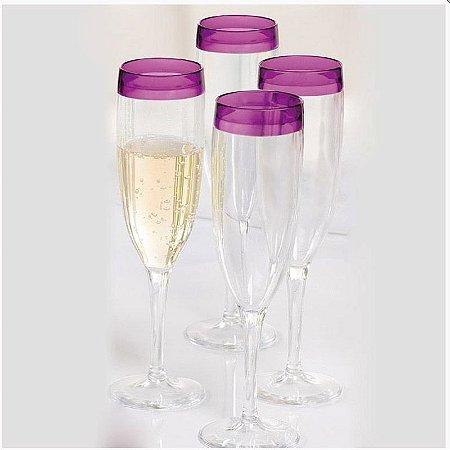 Tupperware taça Champagne Allegra 200ml Kit 2 peças