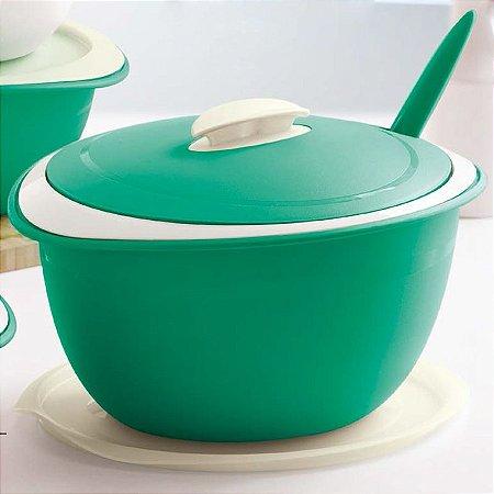 Tupperware Tigela Thermo 3,5 litros Verde + Colher